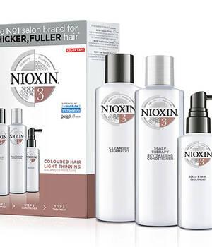3-СТУПЕНЧАТАЯ СИСТЕМА NIOXIN №3 (150 мл) для окрашенных волос с тенденцией к истончению