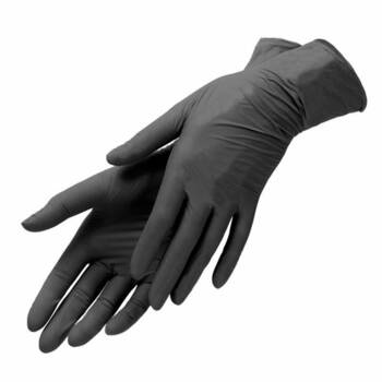 Перчатки нитриловые черные размер XS Benovy